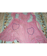 Apron - Vintage from the 1950's - Smock Style (Pink) - $4.95