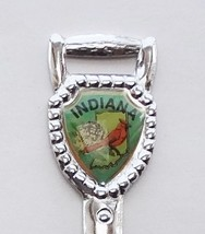 Collector Souvenir Spoon USA Indiana Cardinal Emblem Shovel Spade Shape - $4.99