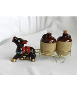 Donkey, Jugs and Wire Cart Salt & Pepper Shakers – vintage Japan - $14.99