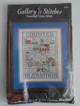 Bucilla Gallery of Stitches COUNTED BLESSINGS Cross Stitch Kit #41311,New  - $6.50