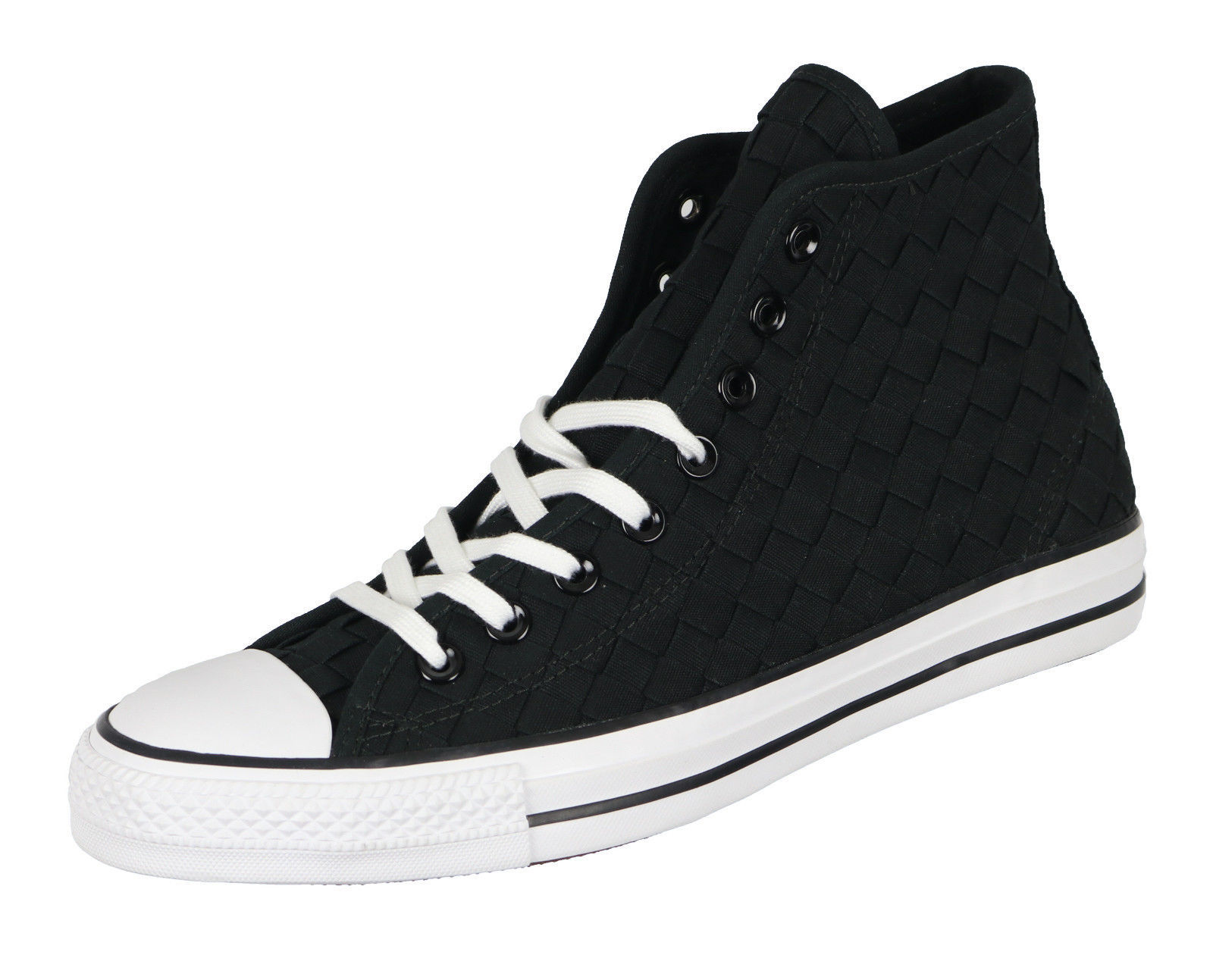 6bdf5f830a16 CONVERSE Chuck Taylor All Star Hi Top Woven sz 9 Black White High 151234C