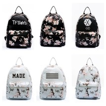 Summer Fashion Flower Butterfly Backpack For Teenage Girl School Bag Bla... - $36.85 CAD