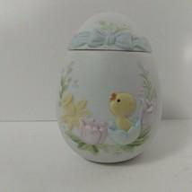 Geo Z.Lefton Vintage Bisque 1983 Easter Egg Trinket Box 03690 - $14.85