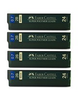 Faber-Castell 0.7mm 2B Super Polymer Premium Strong Dark Smooth Leads Mechanical