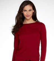 Calvin Klein Liquid Lounge Long-sleeve Knit in Red (Cranberry) size M (NWT $50) image 1