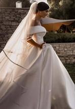 Elegant Ball Gown Long Train Satin Wedding Dress - $299.00