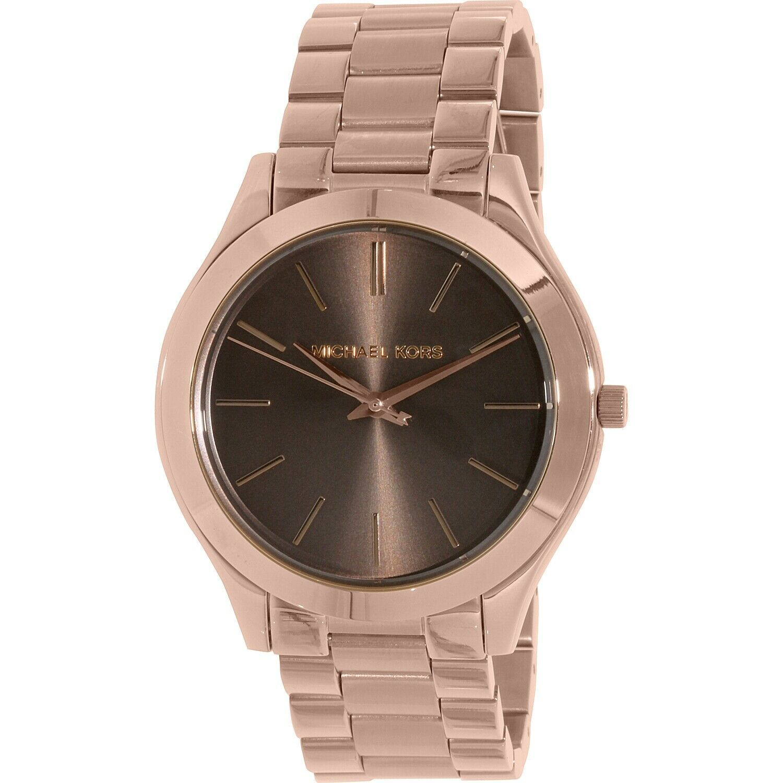 8b7b77fde2d2 Michael Kors Women s  Slim Runway Stainless Steel Watch MK3181 Color Rose  Gold -  98.01