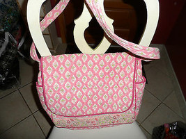 Peach/Pink baby diaper bag by Pomegranate image 1