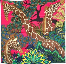 Hermes Giraffes The Three Graces Silk Scarf 90cm 20years on eBay - $470.25
