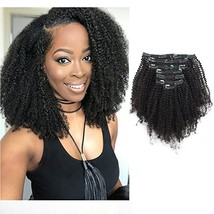 Sassina 120 Grams Remi Human Hair Clip in Extensions Afro Coily 4B 4C Do... - €92,91 EUR