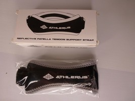 Athlerus Reflective Patella Tendon Support Strap -- Black & White -- Adj... - $8.95