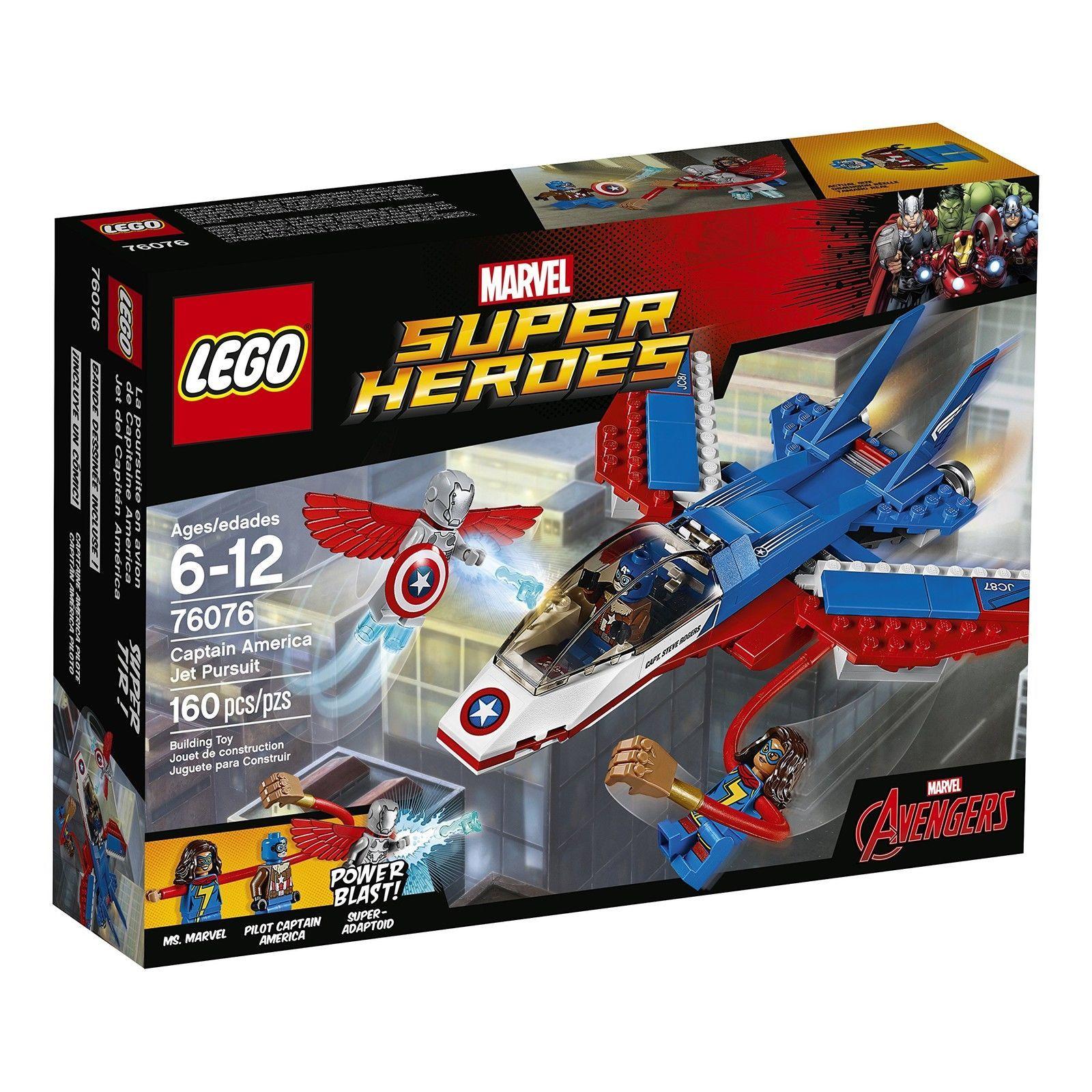 LEGO Marvel Super Heroes Captain America Jet Pursuit 76076 Building Kit New