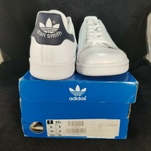 Adidas Stan Smith Sneaker White/Navy Size 8.5 Footwear Athletic Shoes Leather - $72.76