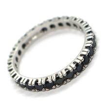 White Gold Ring 750 18K, Eternity, 4 Tips, 3 mm, Zircon Cubic Black image 2