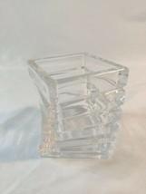 Rosenthal Germany Studio Line TURNUS Twisted Stepped Heavy Crystal Glass Vase - $18.70