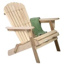 Outdoor Foldable Fir Wood Adirondack Chair - $140.00