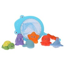 Vehpro Baby Bath Toy Bathroom Fishing Pool Toys Children's Bathroom Toy with Fis