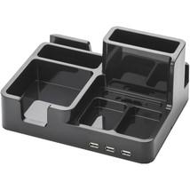 On My Desk ART79001 3-Port USB 2.0 Bay Area Desktop Organizer (Black) - $31.89