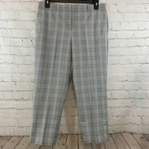 Women's Ann Taylor Pink Gray Plaid 10P Curvy Fit Capri Dress Pants - $9.50