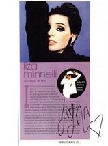 LIZA MINNELLI AUTOGRAPHED Hand SIGNED 8 x 11 Cardstock PHOTO CABARET w/COA - $29.99