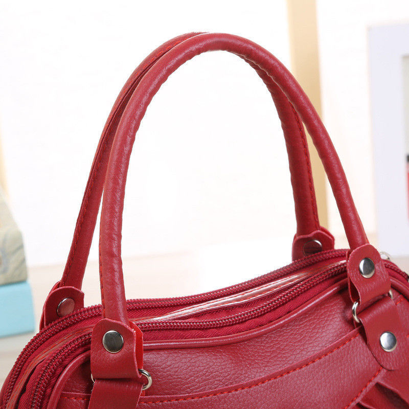 Fashion Classic Women Leather Satchel Shoulder Handbag Ladies Clutch Messenger