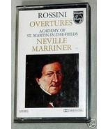 Rossini Overtures Meville Marriner 1977 Cassette - $3.60