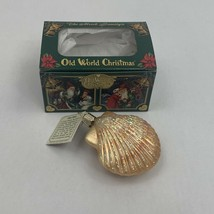 Old World Christmas Clam Shell Glass Ornament The Merck Family's New in Box 05 - $19.99