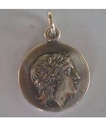 Apollo Silver Coin Pendant - Vergina Star-God of Light- Healing - Music - $29.90