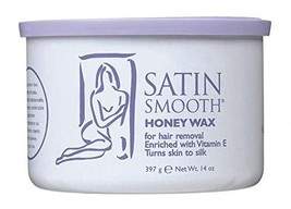 Satin Smooth Honey Wax with Vitamin E 4 Pack