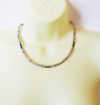 metal tube bead necklace industrial necklace silver 21 inches mens women... - $7.99