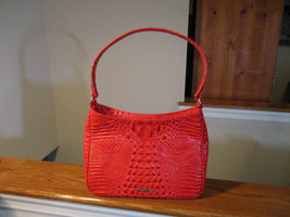 Authentic Brahmin Noelle Candy Apple Red  Melbourne Shoulder Bag Leather NWT - $188.09