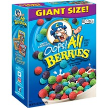 Cap'n Crunch Breakfast Cereal, Oops! All Berries, 21.3 oz Box - $7.00