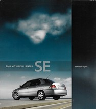 2006 Mitsubishi LANCER SE sales brochure catalog folder US 06 - $6.00