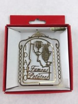 Nations Treasures Idaho State Famous Potatoes 24K Brass Metal Souvenir Ornament - $20.00