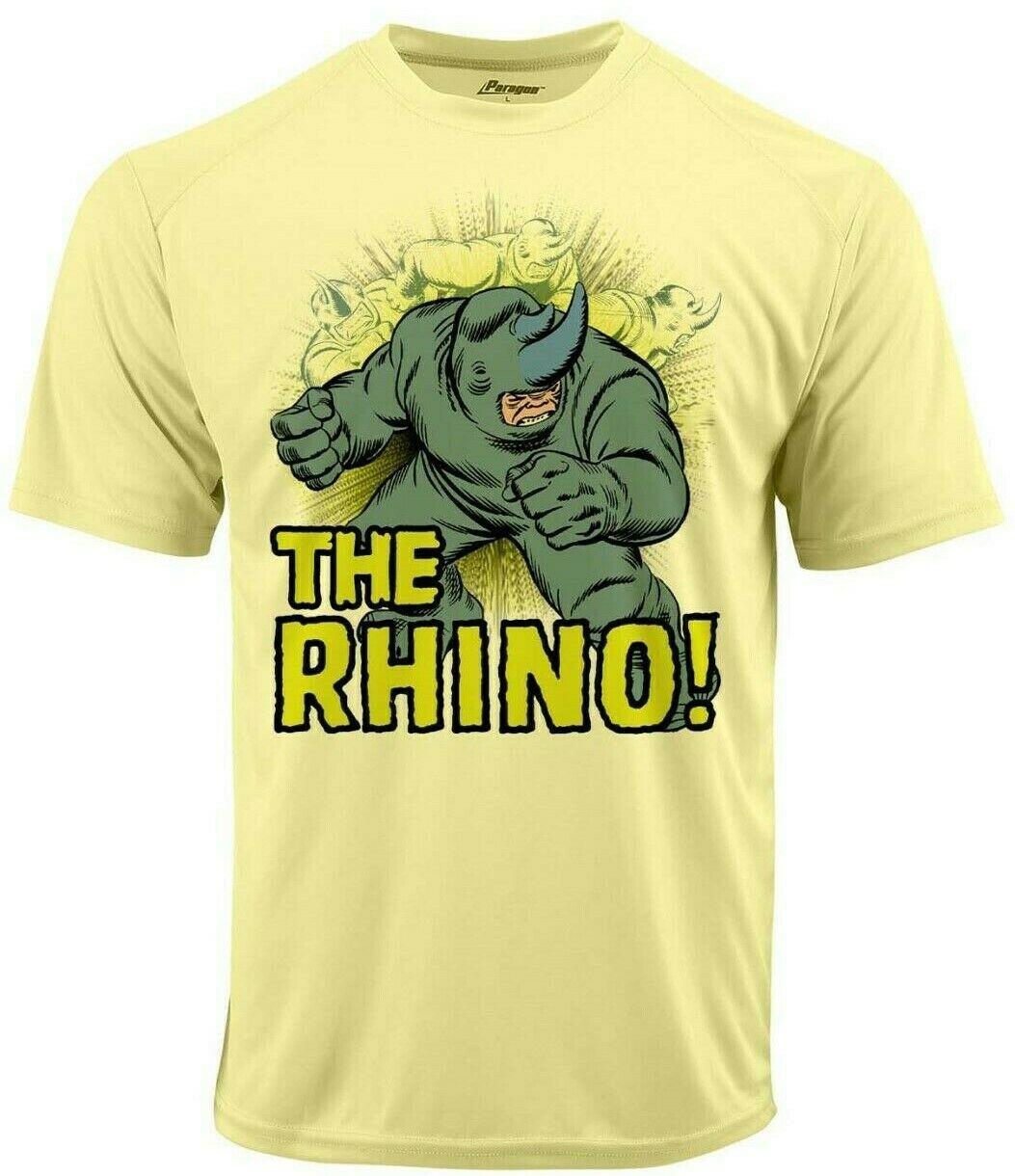 Rhino run dri fit graphic tshirt moisture wicking superhero comic book spf tee 2