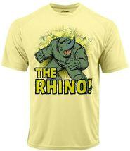 Rhino Run Dri Fit graphic T-shirt moisture wicking superhero comic book SPF tee image 1