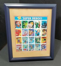 """Super Heroes Comics Cover Marvel Collage Print Framed with Glass & Matted 11 x9"""" - $12.57"""