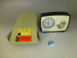 Rare Vintage Reuge Music Box Musical Mechanical Wind Up Alarm Clock New In Box - $490.05