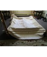 Vintage Oriental Comforter - Queen - Beige and Mauvy White - Unused  - $170.00