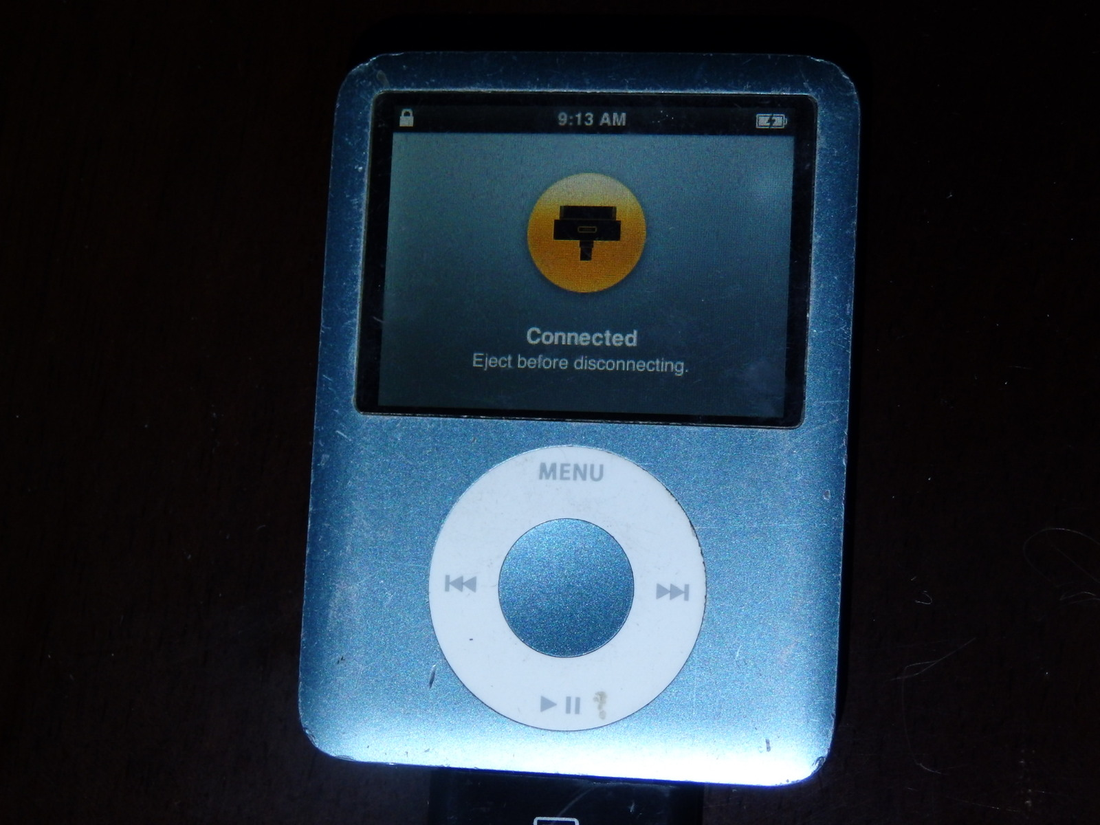 apple ipod nano 3rd generation metallic blue 8 gb other. Black Bedroom Furniture Sets. Home Design Ideas