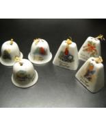 Six Christmas Bells Three Cowbell Style Three Dome Style Seasons Greetin... - $7.99