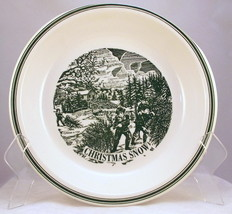 "Vintage Currier and Ives Christmas Snow 10"" pie... - $10.00"