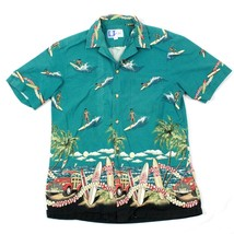 80's RJC Hawaiian Camp Button Up Shirt Adult Large Surf Beach Cruiser HA... - $25.12