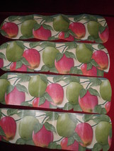 CUSTOM ~CEILING FAN CRISP RED & GREEN APPLES DELICIOUS & GRANNY SMITH KI... - $99.99