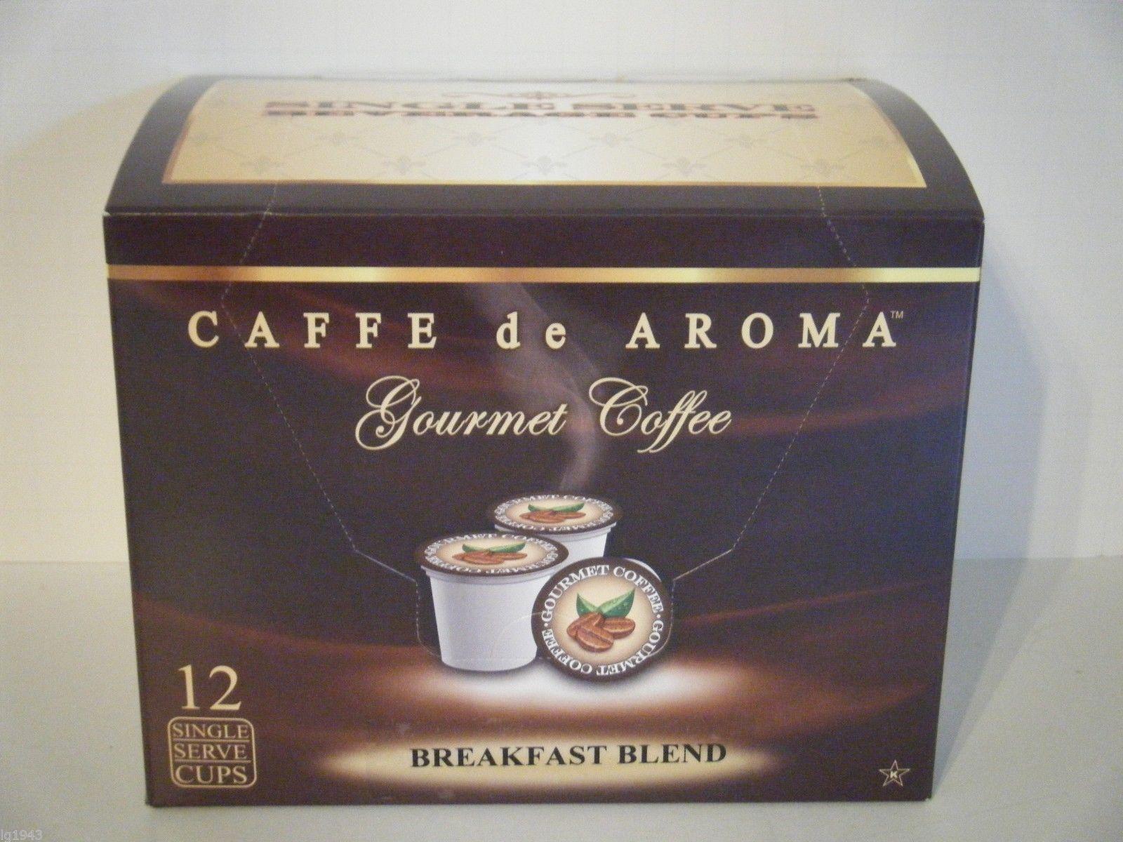 Caffe De Aroma Breakfast Blend 12 Single Serve K-Cups Free Shipping