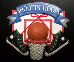 Midwest Of Cannon Falls Christmas Ornament Shootin' Hoops Basketball Themed - $6.99