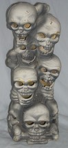 Vintage Foam Skeletons Skulls Halloween Decoration Trendmasters - $8.99
