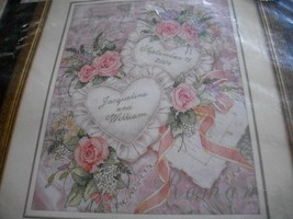 Two Hearts United Wedding Record Cross Stitch Kit~Dimensions 3217-NO FLOSS  - $7.00