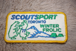 Boy Scouts Of Canada Patch Scouts Sport Toronto Winter Frolic Yellow Border - $8.00