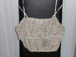 Pins & Needles Floral Ruffle Crop Lace Trimmed Cami Sz L NEW-Ultra Femin... - $12.00